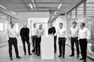 """Heinle, Wischer und Partner Freie ArchitektenPartner der Sozietät v.l.n.r.: Till Behnke, Markus Kill, Edzard Schultz, Jens Krauße, Thomas Heinle, Dr. Alexander Gyalokay, Christian Pelzeter, Hanno Chef-HendriksVerantwortlicher Partner für das MAIN Chemnitz: Jens Krauße (4.v.l.)<a href=""""http://www.heinlewischerpartner.de"""" target=""""_blank"""">www.heinlewischerpartner.de</a>"""