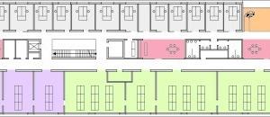 Grundriss 1. Obergeschoss, M 1:1000