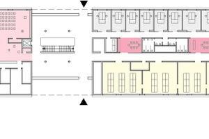 Grundriss Erdgeschoss, M 1:1000 <br />