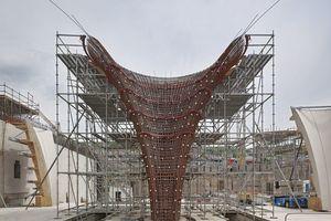 Höchste Ingenieurleistung: die Planung und Fertigung der Kelchstützen, die jetzt schon Denkmalcharakter beanspruchen können