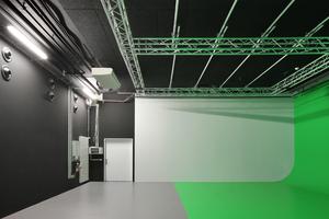 Das Videostudio im 1. Untergeschoss