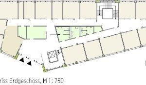 Grundriss Erdgeschoss M 1:750