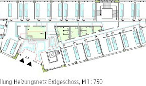 Erdgeschoss mit Multifunktions-Deckensegel M 1: 750