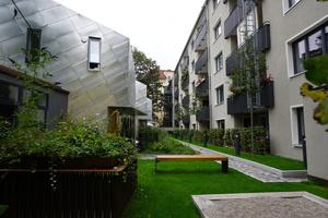 Nachverdichtung mit drei Stadthäusern und Tiefgarage, München - Auszeichnung Kategorie Wohnungsbau