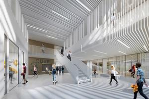Ein zweigeschossigen Foyer voller Licht, Raum und Sichtbeziehungen