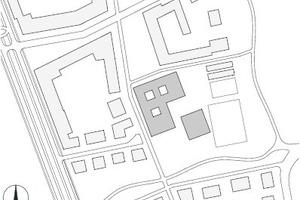 Lageplan Freiham Quartierszentrum, M 1:6000