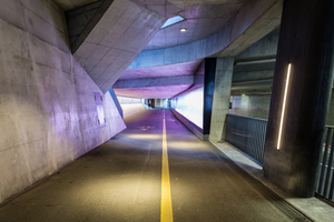 Kategorie Außenbeleuchtung öffentliche Bereiche:  Gleisquerung Winterthur Lichtplanung: Reflexion AG