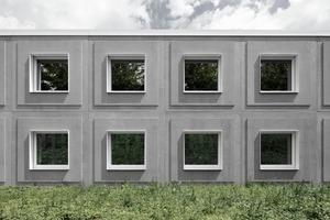 Die massiven Module, die aus drei Schichten bestehen, setzen sich zusammen aus Außenwand (Beton), Kerndämmung und Innenwand (Tragschicht aus Beton). Der hohe Vorfertigungsgrad erlaubte einen zügigen Baufortschritt