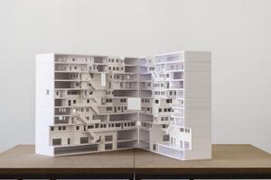 """Förderpreis """"Thick brick Building"""" <br />von Dominic Ahn, Matthew Dueck und Lukas Prestele Jury: """" … Insofern ist die Arbeit als ein wichtiger Beitrag zu einem anderen, vielleicht einem besseren Leben zu verstehen. Es ist lobenswert, dass der Mensch mit seinen Bedürfnissen den Ausgangspunkt für das architektonische und das städtebauliche Konzept bildet."""""""