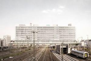 """Förderpreis """"Wohnutopie""""<br />von Maximilian Blume Jury: """" … Und nicht zuletzt ist es gestaltete und sehr mutige Architektur, die wir gerne am vorgeschlagenen Ort gebaut sähen."""""""