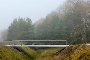 06 Fußgängerbrücke in Verden aus vorgespannten Granitelementen