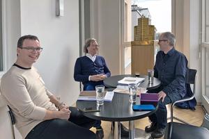 v.l.: Benedikt Schulz, Ansgar Schulz und Benedikt Kraft (Sarah Centgraf hinter der Kamera)