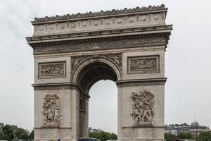 Noch unverpackt: der Arc de Triomphe