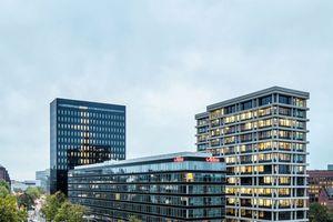 """Ansicht des Ensembles """"Hamburg Heights"""" aus Richtung Nordwesten"""