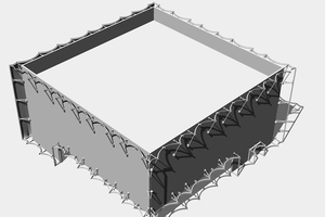 Isometrie der Stahlunterkonstruktion<br />