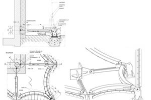 Isometrie Stahlbogen – Gebäudeecke unten<br />