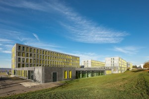 Der dritte Bauabschnitt wurde jüngst fertiggestellt. Neben 98 Wohnplätzen finden hier die Verwaltung und die Kindertagesstätte ihren Platz