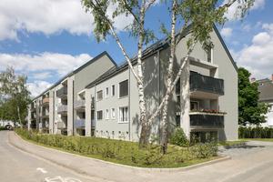 Die Ostzeile wurde im laufenden Betrieb saniert: Die Häuser bekamen neue Bäder, neue Balkone und ein neues Dach