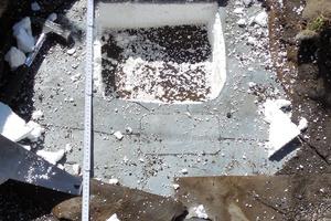 03 Öffnungsstelle in der Dachabdichtung