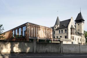 Nike für Komposition: Mediathek der Burg Giebichenstein, Halle (Saale)