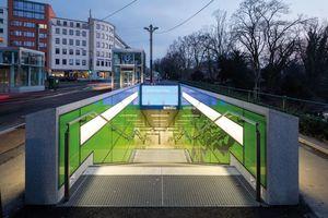 Nike für Atmosphäre: Wehrhahn-Linie, Düsseldorf netzwerkarchitekten (Darmstadt), Bauherrschaft: Landeshauptstadt Düsseldorf, Amt für Verkehrsmanagement