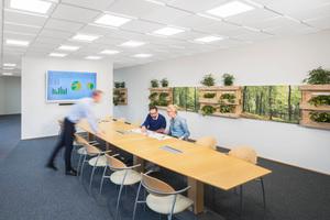 Ein offener Meetingbereich erfordert besondere akustische Betrachtung, um eine angenehme Kommunikationssituation sicherzustellen und Störungen für andere Bereiche zu vermeiden.<br />
