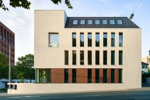 Zeitgemäß und doch seiner Umgebungsbebauung aus alten Villen angepasst, entstand ein monolithischer Baukörper<br />