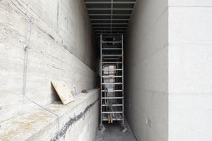 Dieser Zwischenraum zwischen Pergamon und Galerie soll für Besucher der Terrasse einmal offenbleiben: 24 Stunden James Simon Terrassenaussicht