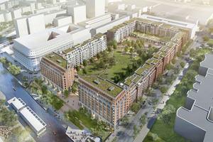 Das Quartier SonninPark, Hamburg aus der Vogelperspektive