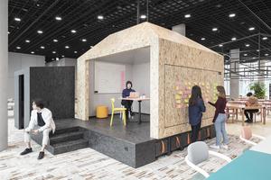Durch die Schaffung von Teambereichen wurde für die Start-Ups Raum geschaffen zur keativen Entfaltung und die Entwicklung neuer Ideen.<br />