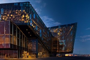 Die Konzerthalle in Harpa von Henning Larsen 2011 gebaut