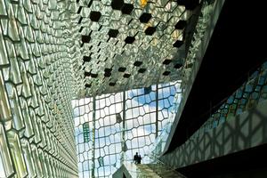 Der Innenraum der Konzerthalle in Harpa von Henning Larsen