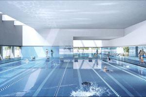 Perspektive Schwimmhalle, Sportbecken