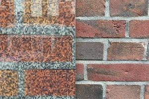 Klinker, Kalkstein, Echsenschuppen: alles ist möglich auf Solar Visual Panels