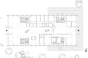 Grundriss Erdgeschoss, M 1 : 750