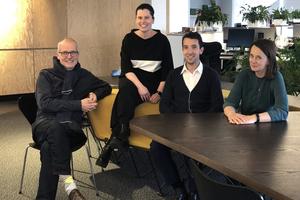 v.l.: Benedikt Kraft, Katja Reich, Tom Minderhoud und Astrid Piber bei UNStudio