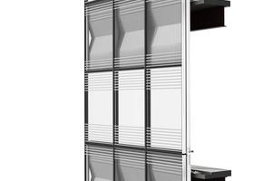 03 Aufbau Vorhangfassade: Rahmen, Verglasung und opake Felder
