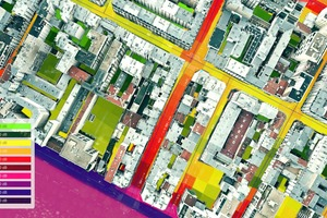 06-09 Reduzierung des Lärmpegels durch schallabsorbierende Fassadenflächen in einer Straße