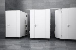 WC-Trennwandsystem PRIMO Kn mit Systemwand saniQub<br />