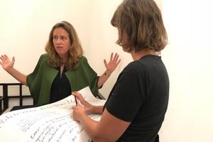 Simone Zapke, Leiterin der Bauaufsicht in Frankfurt am Main, beteiligte sich ebenfalls an der Diskussion