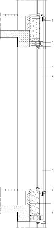 Fassadendetail, M 1 : 33,333<br /><br />