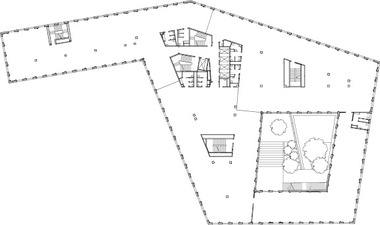 Grundriss Regelgeschoss 1. OG, M 1 : 1000<br /><br />