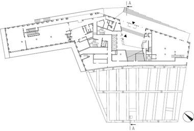 Grundriss Erdgeschoss, M 1 : 1000<br />