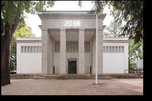 Das Kuratorenteam des deutschen Beitrags auf der 17. Architekturbiennale 2020: Arno Brandlhuber, Olaf Grawert, Nikolaus Hirsch und Christopher Roth