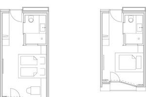 Zimmergrundrisse, M 1:150