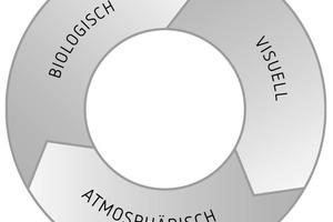 Zusammenwirken der verschiedenen Anforderungen an die Lichtplanung