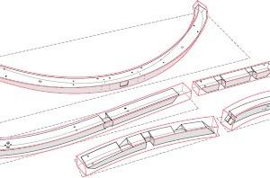 Vorteil der parametrischen Planung ist, dass ein Bau dreidimensional exakt erfasst wird. Seine Gebäudegeometrie folgt dabei bestimmten Regeln. Dann werden Elemente, Knoten und Anschlüsse definiert