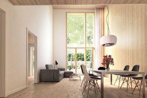 03 Die neue Bauordnung Berlin (BauO Bln) ermöglicht sichtbare Holzoberflächen in Gebäuden der Gebäudeklasse 5
