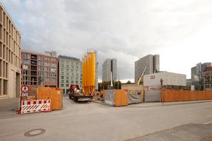 Der Beton steht bereit, um dem House of One ein Fundament im sandigen Berlin zu geben