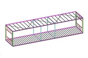 Konstruktion eines Stahlrahmenmoduls